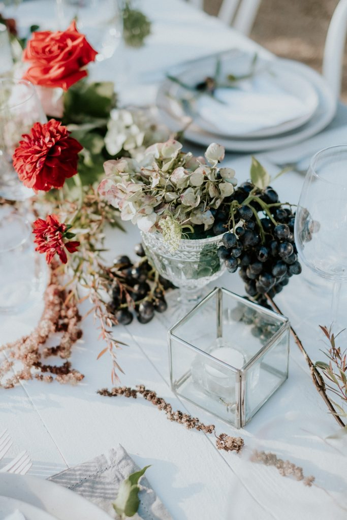 Winter styled tablescape at byronviewfarm