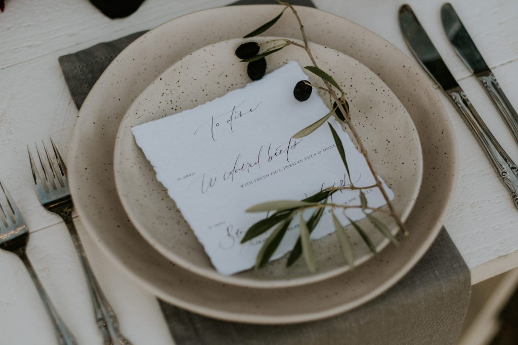 Table setting by The Wedding Shed at byronviewfarm
