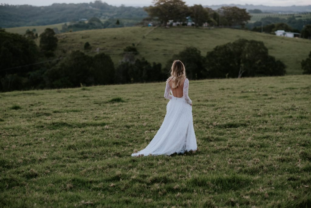 Bride at byronviewfarm