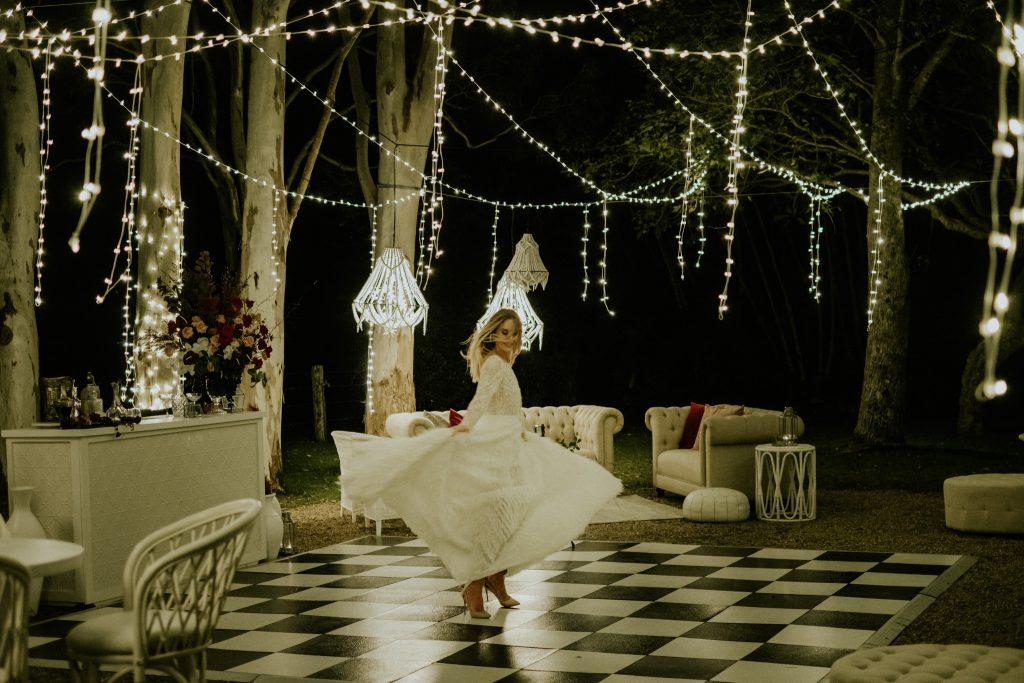 Bride on the dance-floor at byronviewfarm