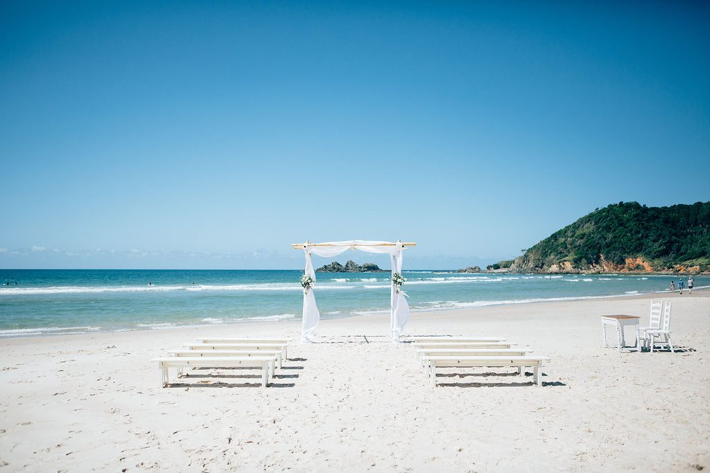 Barefoot at Broken Beach Ceremony - Byron Bay Weddings