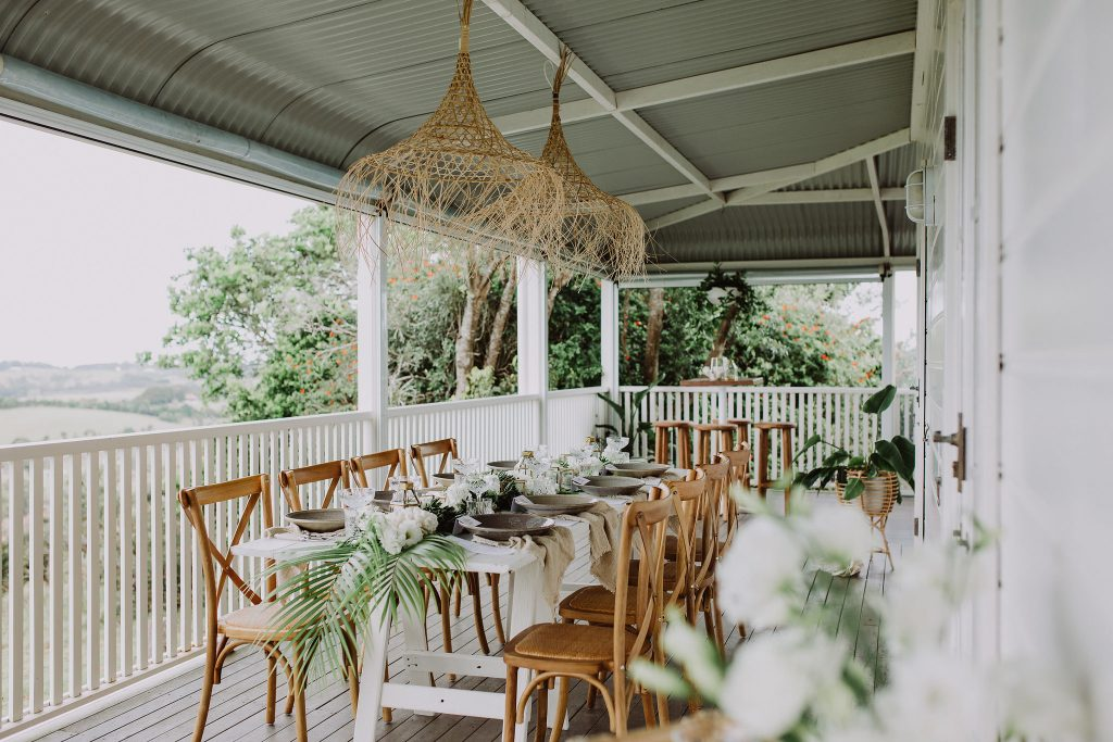 Tropical Luxe table styling by The Wedding Shed