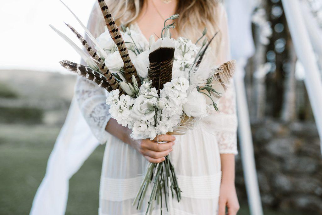 Wilderness Flowers wedding bouquet