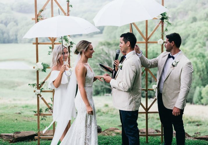 Earth House wedding ceremony - saying your vows